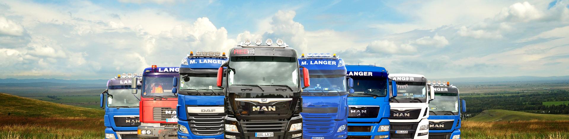 LKW-Flotte Spedition Langer